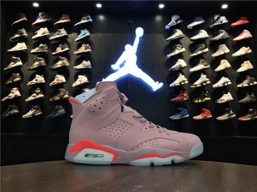 """乔丹/Air Jordan【真标最高版】aj6 AJ6 乔丹6代 乔6 乔丹6 Air Jordan 6 """"Millennial Pink""""货号:384664-031 乔6粉红外线 40.5-47.5"""