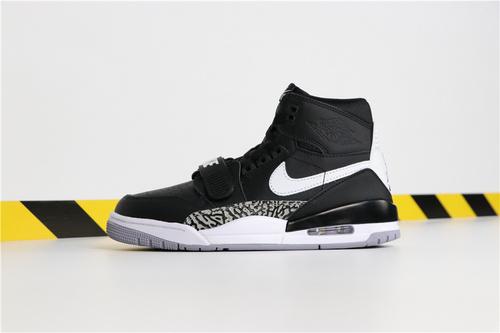 """乔丹/Air Jordan【超A】Don C x Jordan Legacy 312 """"Black Cement"""" 货号:AV3922-001 乔丹联名三合一奥利奥 40-46"""