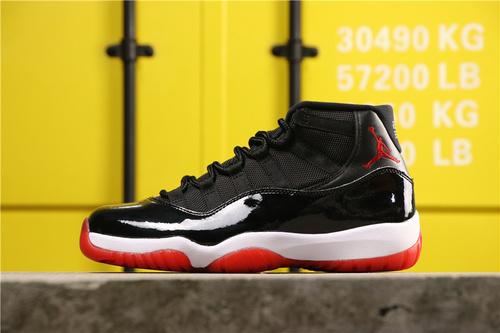 """【真标裁片级】乔丹/Air Jordan aj11 AJ11 乔丹11代 乔丹11代高帮系列 Air Jordan 11 """"Bred"""" 货号:378037-061 乔11黑红 36-46"""