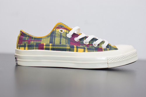 R04F3 Converse 70s Twisted Prep 匡威全新格纹控撞色系列低帮休闲板鞋 166851C尺码35-44