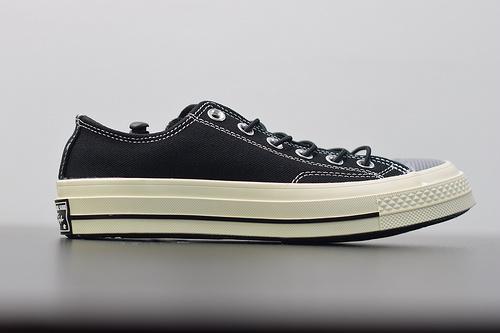 W02Z3  Converse/匡威1970S 男女款低帮帆布鞋,聚氨酯硅蓝PU中底❗165471C 黑色,尺码:35--44