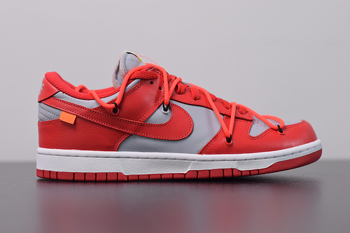 A00C6  OW sb Off-White x NK Dunk Low 联名红灰CT0856-600尺码36-45