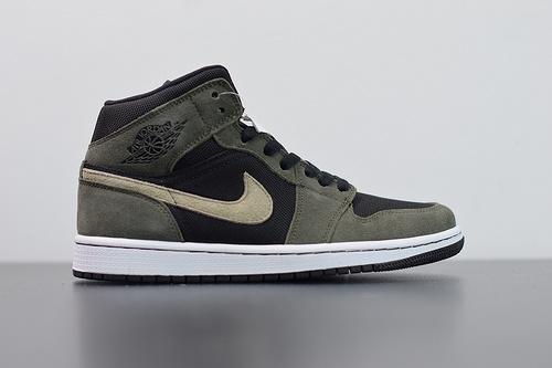 """T06L4 Air Jordan 1 Mid""""Olive Green""""橄榄绿 中帮系列货号:BQ6472-030尺码36-46"""