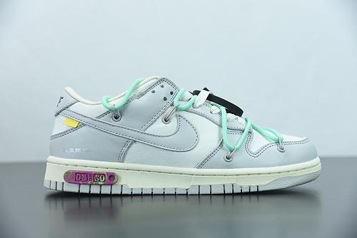 "H03G5 0ff-White x Nk Dunk Low""04 of 50"" OW 绿鞋带 货号:DM1602-114 尺码:36-47"