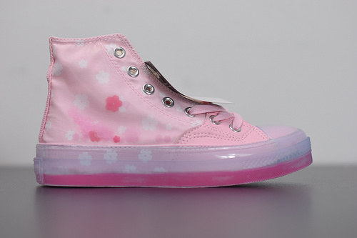 R06F3 匡威Converse 1970S高帮 樱花粉色新款女款 透明果冻底166752C尺码35-44