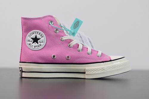 """W08Z2 匡威Converse 1970S三星标高帮女鞋款帆布鞋 """"粉红色高邦""""164947C,尺码:35-39.5"""