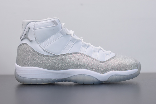 "X07L5  Air Jordan 11 WMNS "" Metallic Silver "" 满天星 篮球鞋 AR0715-100 尺码36-44"