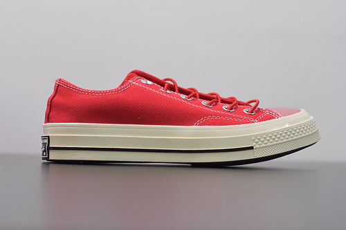 W02Z3  Converse/匡威1970S 男女款低帮帆布鞋,聚氨酯硅蓝PU中底❗165469C 中国红 ,尺码:35--44