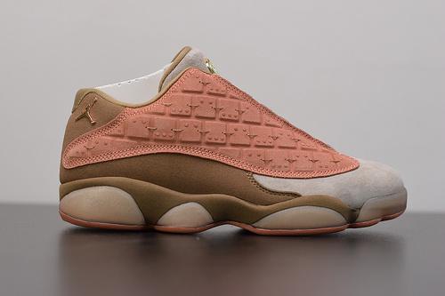 T02T6 纯原版‼️aj13兵马俑  头层麂皮材质  Air Jordan 13 x Clot AJ13 兵马俑篮球鞋 陈冠希联名 AT3102-200  尺码:36-47.5