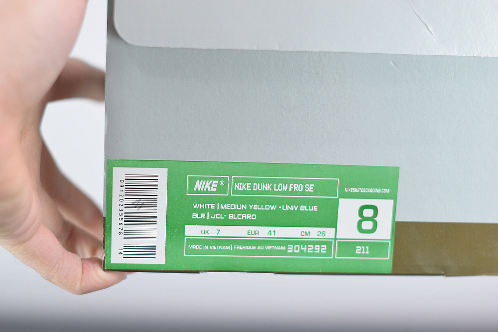 W09Z4 NK Dunk SB LoW Heineken  喜力   304292-211 尺码36-47.5
