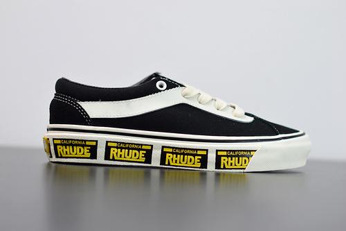 W03Z3 范斯 Vans x Rhude Bold Ni 联名款 黑黄 加州车牌串标复古滑板鞋35-44