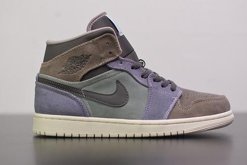 A03O4 Air Jordan 1 Mid 魔芋紫色 货号:852542-203 尺码36-47.5