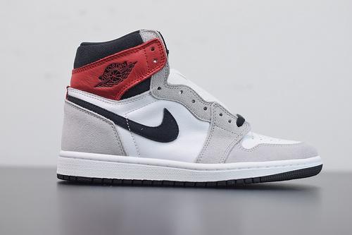 "X03L6 AJ1 Air Jordan 1 ""Light Smoke Grey""浅烟灰 货号:555088-126尺码36-46带半码"