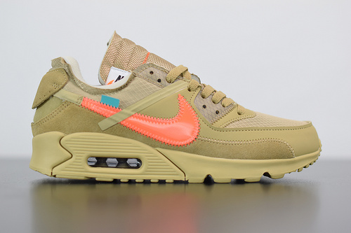 D05Y5 OFF-WHITE x Air Max 90 沙漠配色 AA7293-200 尺码 36-46