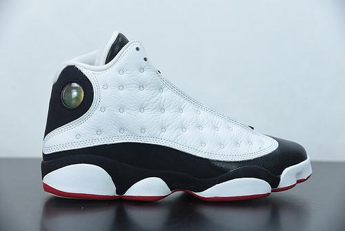 """W00S7 Air Jordan 13 """"He Got Game"""" AJ13 乔13黑白熊猫  全息3D真猫眼 货号:414571-104尺码:40-47"""