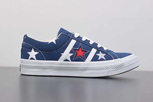 W03Z3 匡威Converse One Star Academy Low Top低帮麂皮休闲板鞋 刺绣星星165026C 尺码:35-44