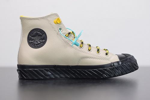 "W03Z3 全新匡威 Converse Chuck Taylor 70s Bosey Water Repellant Hi高帮猎鸭户外系列休闲运动硫化板鞋""灰黄""165930C 尺码35-44"