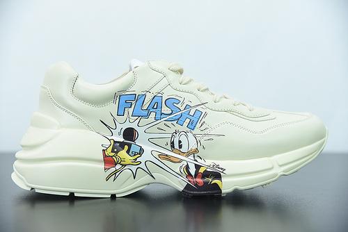 D05G6  GC Rhyton Vintage Trainer Sneaker  古驰老爹3D皮革角状复古慢跑鞋 尺码:35-45