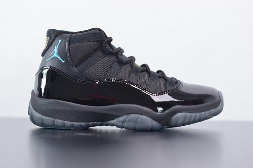 T05T5 Air Jordan 11 AJ11 乔丹11代高帮篮球鞋/伽马蓝 黑蓝 漆皮货号:378037-006尺码40-46