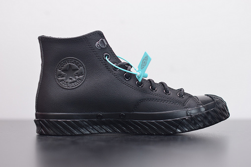 "W03Z3 匡威 Converse Chuck Taylor 70s Bosey Water Repellant Hi高帮猎鸭户外系列休闲运动硫化板鞋""纯黑""165932C尺码35-44"