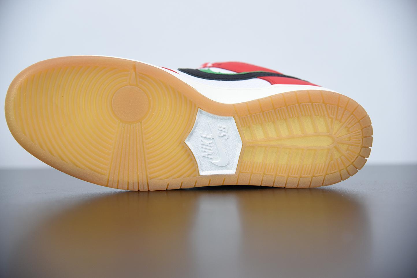 "M00M5 Frame Skate x SB Dunk Low ""Habibi""双钩系列 白红色 CT2550-600 尺码36-45"