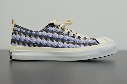 W05Z3 硫化工艺,正确聚氨酯硅蓝PU中底,匡威 DOE新款联名 高帮硫化板鞋 原盒原标货号:165550C尺码:35-44