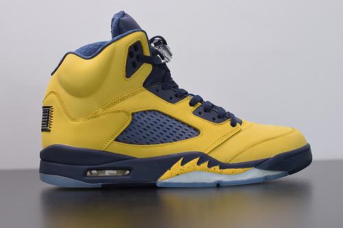 X07L5 Air Jordan 5 SP Michigan 密歇根 大学明黄 高帮休闲运动篮球鞋。 货号#CQ9541-704尺码40-47.5