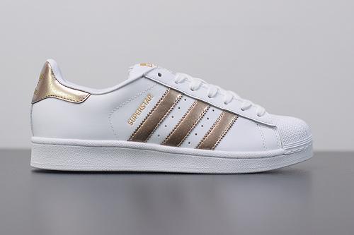 W03S3 Adidas Originals Superstar J 贝壳头小白鞋 BB1428 香槟金36-44