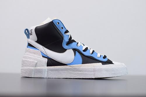 M00M6 升级版 Sacai X Nike Blazer with Dunk 联名解构板 黑蓝白休闲鞋BV0072-001尺码36-46
