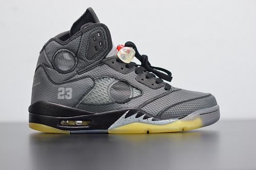 S00B6  Air Jordan 5 AJ5 ow联名 off white 灰黄 3M 反光 CT8480-001尺码40-47.5