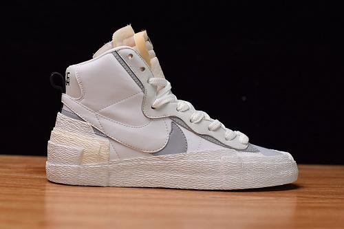 Nike x sacai Blazer 货号:BV0072-100 开拓者 联名 解构 板鞋白灰 尺码40-46