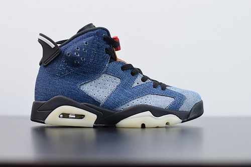 "W05S5 Air Jordan 6 Retro""Washed Denim""丹宁牛仔 复古男子文化篮球鞋货号:CT5350-401 尺码:40-47.5"