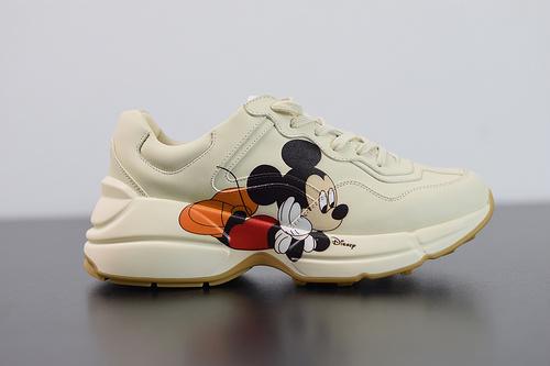 Y00H7 Y00H7 Gucci Rhyton Vintage Trainer Sneaker  古驰米老鼠老爹5D皮革角状复古慢跑鞋35-44