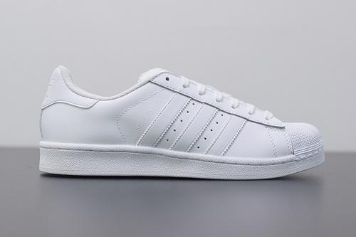 W03S3 Adidas Originals Superstar J 贝壳头小白鞋 B27136 纯白 36-44
