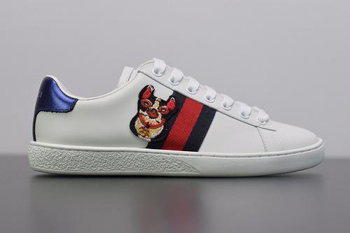 S00B6 Gucci/古驰 小白鞋  系列板鞋 全头层软牛皮 广东代工出品 原档原标原盒 过验版 随意对比任何版本 尺码:35-44
