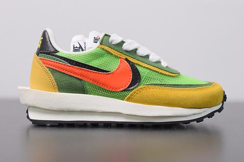 童鞋 S02B4 Sacai x Nike LVD Waffle Daybreak 联名走秀款  网纱皮面拼接跑步鞋BV0073-301 尺码28-35