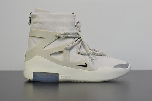 O00W9 恐惧之神联名 Nike Fear of God 1 白色高帮气垫AR4237-002 尺码36-46
