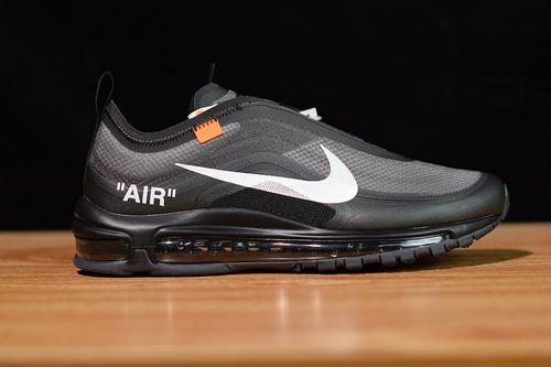 L9V Nike Air Max 97 x OFF-WHITE OW联名子弹跑鞋 黑色 尺码36-46带半码