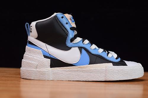 Sacai x Nike Blazer Mid 黑白蓝 联名解构中帮板鞋 开拓者BV0072-001尺码40-45
