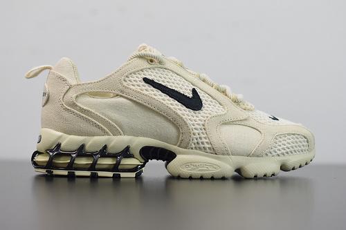 A05C5 超级联名StussyxNikeAirZoomSpiridonCG2沙漠黄复古跑步鞋货号:CQ5486-200 码数:36-46