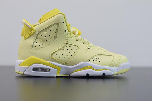 X03L4 Air Jordan 6 GS AJ6 乔6柠檬黄  女子篮球鞋 543390-800  尺码:36-40