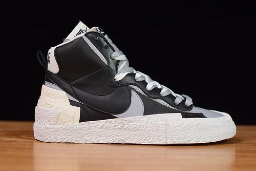 Nike x sacai Blazer 开拓者 联名 解构黑白板鞋BV0072-002尺码40-46带半码