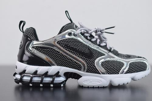 X08Z4 Nike Air Zoom x Stussy联名跑步 黑白复古 3M反光 老爹鞋 CU1854-001尺码36-45