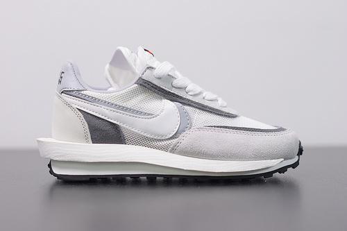 童鞋 S02B4 Sacai x Nike LVD Waffle Daybreak 联名走秀款  网纱皮面拼接跑步鞋BV0073-100 尺码28-35