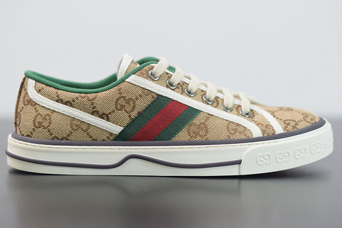 S00B6 Gucci/古驰 2020新款经典帆布板鞋/灰绿35-44