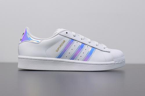 W03S3 Adidas Originals Superstar J 贝壳头小白鞋 AQ6278 镭射 36-39