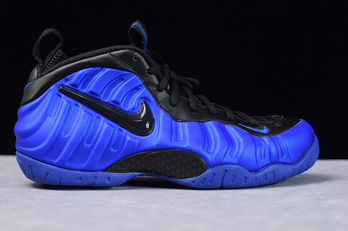 L03J6 莞产 Nike Air Foamposite Pro Blue 蓝黑泡 624041-403  新黑蓝泡 38.5-46