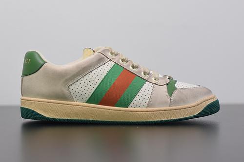 S00B6 Gucci Distressed leather sneaker经典百搭做旧老爹板鞋35-39