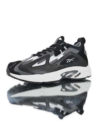 Wanna One x Reebok DMX Series1200 团体代言款 销量冠军 正确磨具打造完美鞋型 复古休闲增高运动老爹慢跑鞋 黑灰米白配色
