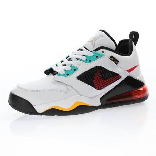 "Nike Jordan Mars 270 Low""White/Black/Red/Yellow"" 皮革白黑红蒂芙尼绿黄 DB5919-181"